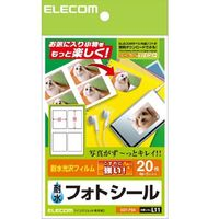 ELECOM EDT-PS4 フォトシール(4面) (EDT-PS4)画像