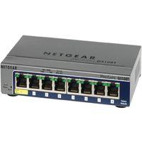 NETGEAR GS108Tv2 8ポート PoE受電対応ギガビットスマートスイッチ (GS108T-200JPS)画像