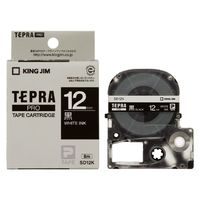 SD12K カラーラベルテープ 「テプラPRO」(黒テープ/白文字/12mm幅)画像