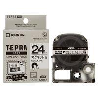 SJ24S PROテープ マグネットテープ(白)黒文字24mm幅画像